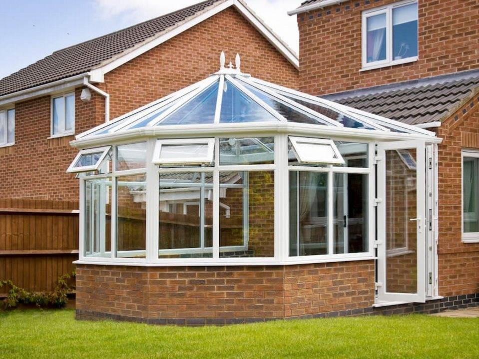 conservatory with windows open